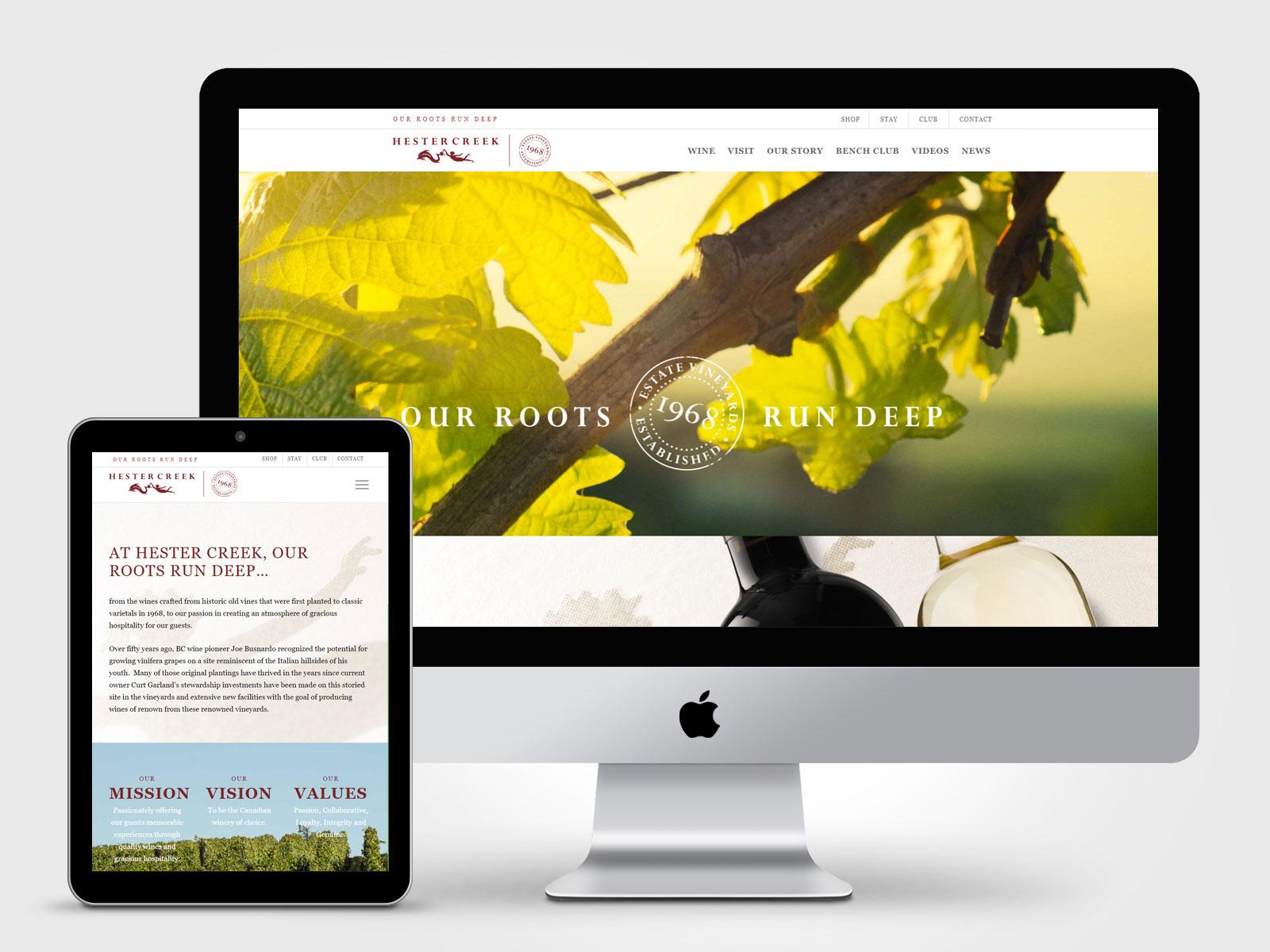 Hester Creek Winery website