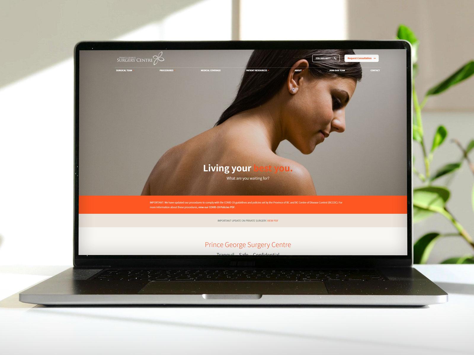 PG Surgery Centre website