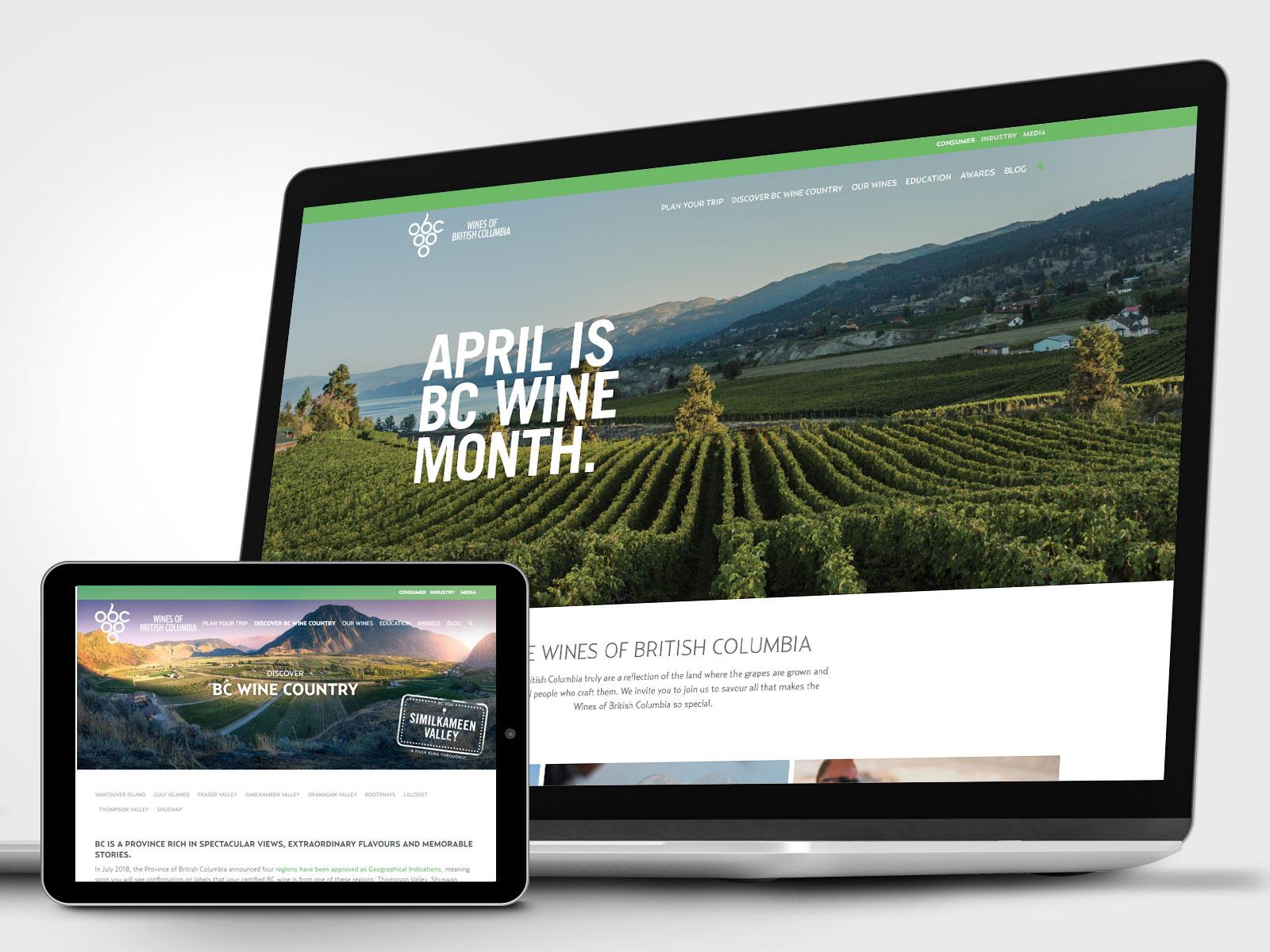 Wine Growers BC website